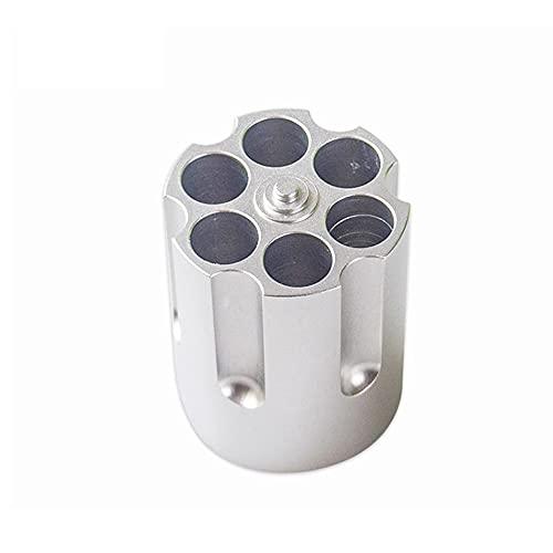Portalápices Cilíndrico, 6 Agujeros de Portalápices Aluminio de Aviación Para Material Escolar de Oficina, Organizadores de Escritorio
