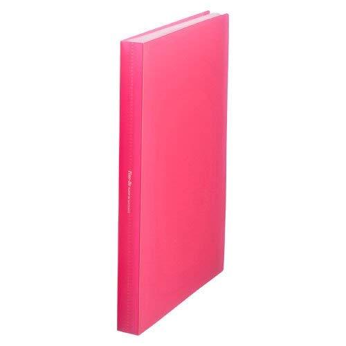 ビュートン Fine-Be スラットインファイル A4 (見開きA3収納) 24ポケット ピンク FIN-A4-24CP ×5 セット