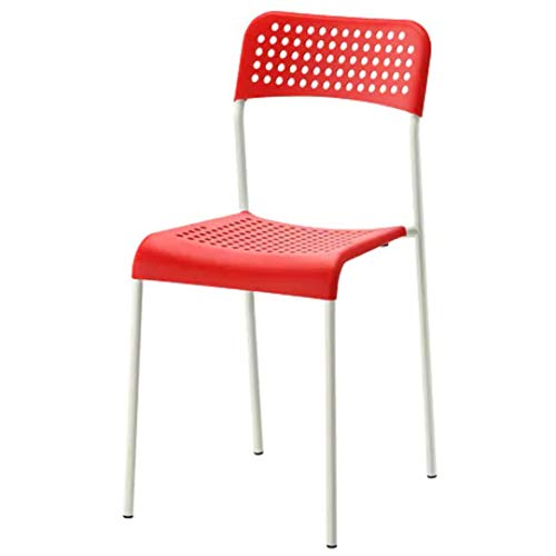 Ikea Chair (Steel; Plastic , Red)