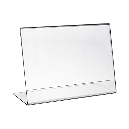 HMF 46935 Acryl Tischaufsteller schräg | DIN A4 Querformat | Glasklar