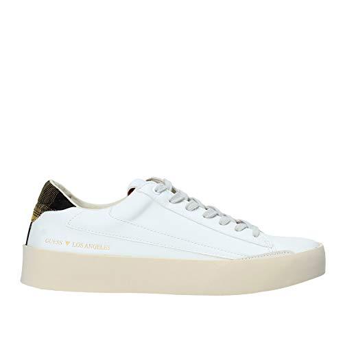 FM8FIRELE12 White Multi Guess GUESS FOOTWEAR MAIN - Zapatillas deportivas para hombre Blanco Size: 42 EU