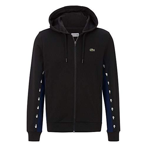 Lacoste Herren SH5174 Pullover, Schwarz/Marineblau, XXL
