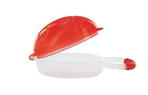 dBb-Remond 173123 - Scatolina portaciuccio a forma di coccinella, colore: Rosso traslucido