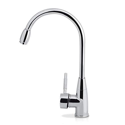 Streamline Messing Küchenwasserhahn,Verchromte Oberfläche Spüle Wasserhahn für Spülen und Waschbecken 32 * 19.5 cm