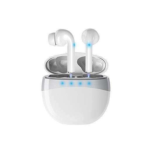 XuBa M19 TWS koptelefoon, draadloos, Bluetooth, 5.0, touchscreen, stereo koptelefoon, sport-koptelefoon met laadstation, 300 mAh, Eén maat, Wit.
