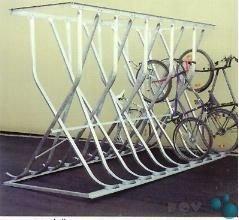 Fahrrad-Kufenparker Modell: P 54-M16 mit 16 Einstellplätze doppelseitig, frei...