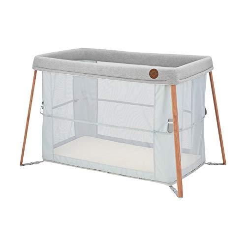 Maxi-Cosi Iris 2-in-1 Reisebett Baby, faltbares Kinderbett für Unterwegs, für Neugeborene bis Kleinkinder- auch als Laufstall nutzbar, ab der Geburt bis ca. 3 Jahre, Essential grey