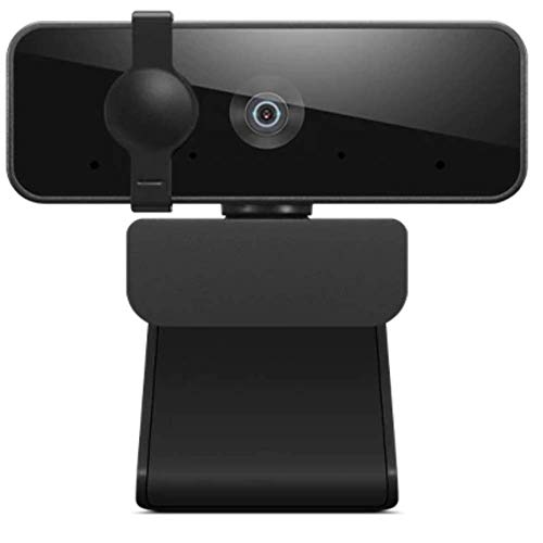 Lenovo FHD Webcam with Full Stereo Dual Built-in mics | FHD 1080P 2.1 Megapixel CMOS Camera |Ultra-Wide 95° Lens, 4X Digital Zoom | 360° Rotation | Flexible Mount (4XC1B34802)