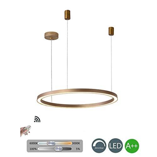 LED-kandelaar rond verlichting hanglamp post ringen plafondlamp hotel kroonluchter hanglamp licht goud brons woonkamer of vorm lamp ring kroonluchter industriële lamp 80CM Goud