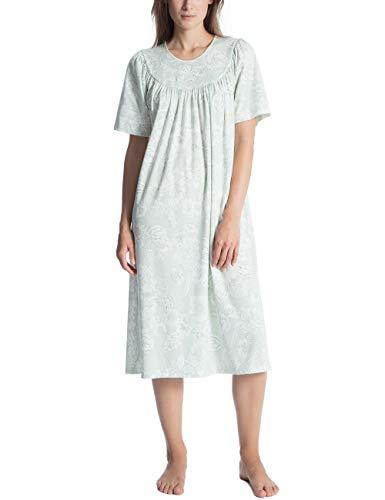 CALIDA Damen Soft Cotton Nachthemd, Grün (Green Lily 641), X-Small