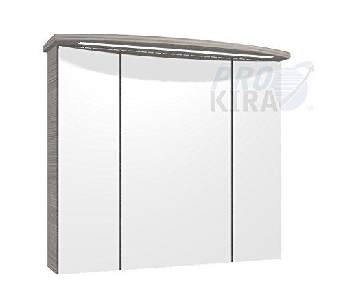PELIPAL Contea Spiegelschrank inkl. LED Beleuchtung/CT-S3D8-8073-16 / Comfort N/B: 80 cm