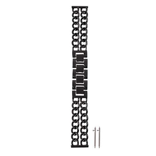 ibasenice Correa de Reloj Inteligente de Metal Reloj de Cadena de Aleación Correa de Muñeca Pulsera de Reemplazo Compatible con Samsung Gear S3