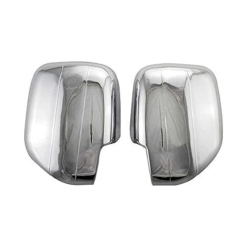 LSJVFK Cubierta de la Tapa del Espejo retrovisor de la Puerta Lateral del Coche con lámpara LED, para Toyota Land Cruiser 100 FJ100 1998-2007