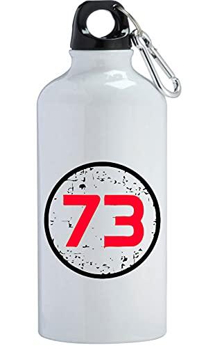 73 Magic Super Number All Botella de agua de acero inoxidable al aire libre Entrenamiento Ciclismo Camping a prueba de fugas Gran Capacidad Blanco 600ml