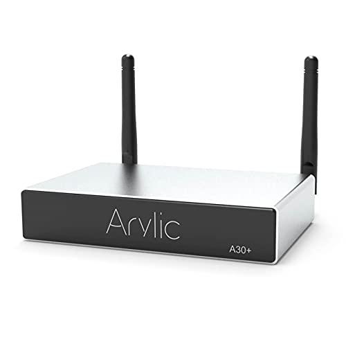 Arylic WiFi e Bluetooth 5.0, Mini amplificatore stereo domestico wireless classe D a 2 canali per altoparlanti con spotify, airplay 1, audio digitale multiroom / multizone Amp - Up2stream A30 +