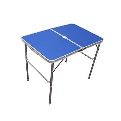 MERMONT アルミレジャーテーブル 折りたたみ ブルー/青 [幅 90cm]