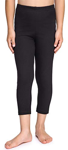 Merry Style Leggins Mallas Pantalones Piratas Ropa Deportiva Niña MS10-226(Negro, 110 cm)