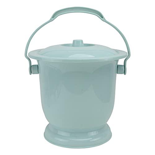 HEMOTON Chambre Pot Bassines Crachoir avec Couvercle Portable Bassine Siège Urinoir Pot de Chambre pour Les Femmes Hommes Enfants Âgés (Ciel- Bleu)