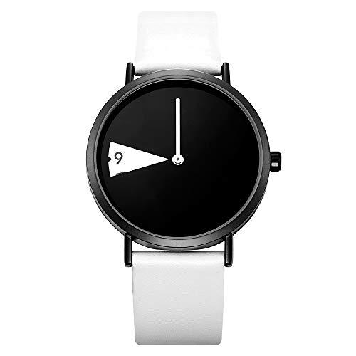 SHENGKE Reloj Minimalista para Mujer Correa de Cuero Ultrafina Moda Relojes de Cuarzo para Mujer Relojes a Prueba de Agua Reloj de Mujer,Black