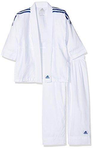 adidas 200EvolutionKimono de Judo para niños, Modelo Que se Ajusta al Crecimiento, Hombre, Color Blanco, tamaño Medium