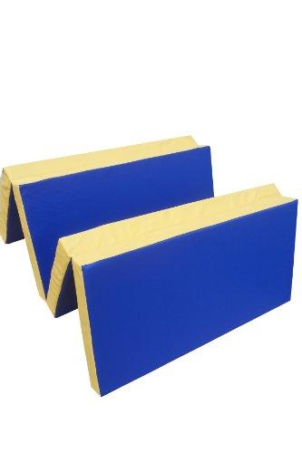 Niro Sportgeräte Turnmatte Weichbodenmatte Klappbar Blau/Gelb, 200 x 100 x 8 cm