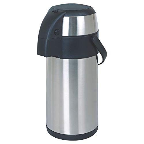 Ossian Stainless Steel Air Pot – Large Insulated Pump Action Thermal Hot...