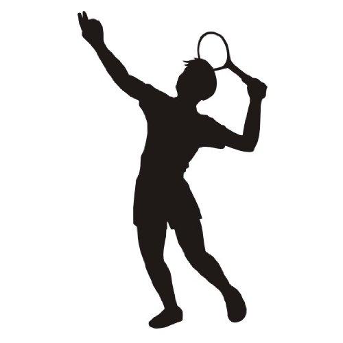 das-label Tennis Autoaufkleber Sportaufkleber Chrom