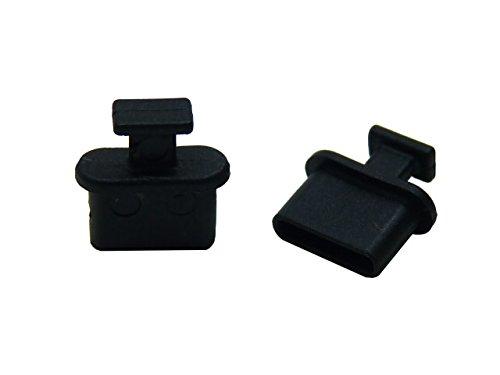 テクノベインズ USB3.1Type-C 機器側コネクタ用キャップ (黒) つまみあり 6個/パック USB31CACK-B1-6