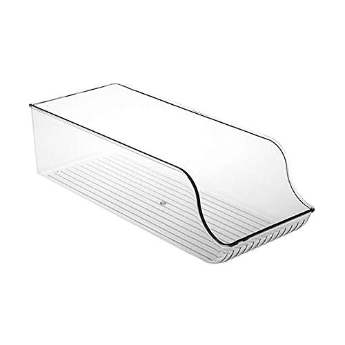 Merssavo Caja de almacenamiento para refrigerador, sin textura, organizador de refrigerador, cajón para bebidas, caja interior de nevera (pequeño)