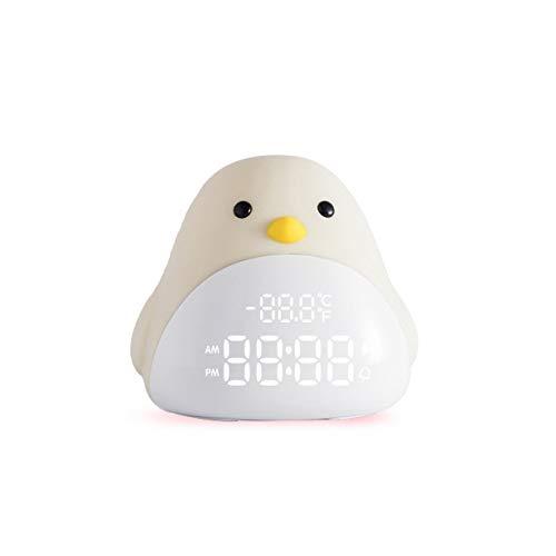 Xiannv Zeit Vogel WeckerMultifunktions -elektronischeSnoozewarnungNacht intelligentes Kind Uhrgelbes Licht128 * 135 * 108mm