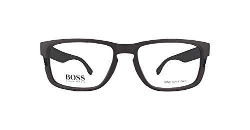 BOSS ORANGE BOSS0917 Hugo Boss Brillengestelle Boss0917-1Xf-55 Herren Rechteckig Brillengestelle 55, Mehrfarbig (Schwarz/Braun)