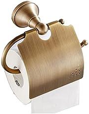 【Plaisir joie】トイレットペーパーホルダー TS-1 トイレット ブロンズゴールド 真鍮 壁取り付け トイレ用 バスルームアクセサリー