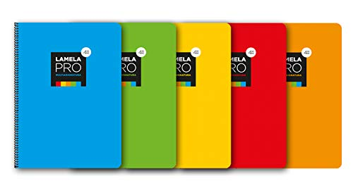 Paquete 5 Cuaderno folio extra dura 100 hojas. 3 mm, SURTIDOS