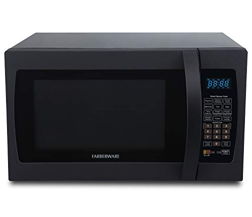 Farberware Professional FMO13AHTBKF 1.3 Cu. Ft. 1100-Watt Microwave Oven with Smart Sensor Cooking, ECO Mode and Blue LED Lighting, Matte...
