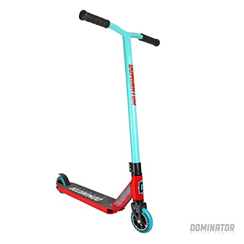 Dominator Ranger Pro Stunt Scooter - Patinete, color turquesa y rojo