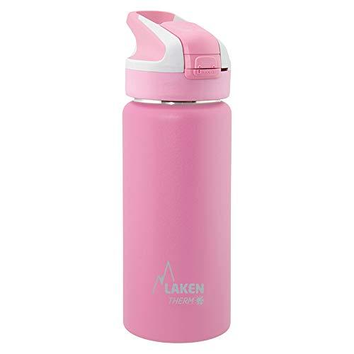 Laken Botella Térmica Summit de Acero Inoxidable para Niños, con Tapón Automático y Cierre de Seguridad, 350 ml, Rosa