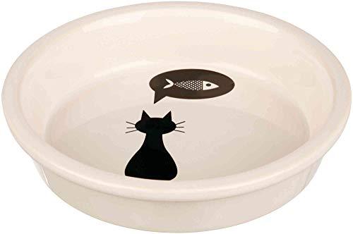 Trixie ciotola in ceramica per gatti, 0.25 l, Bianco/nero