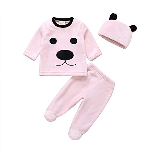 Best Deals! GorNorriss Infant Bunting Bodysuit, Baby Boys Girls Long Sleeve Cartoon Bear Fleece Romp...