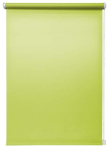 Tageslichtrollo Grün 100x150 cm ohne Bohren Klemmfix ohne Bohren Sichtschutzrollo Seitenzugrollo Klemmrollo