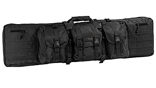 TLO Outdoors Tactical Double Rifle Gun Case - Soft Range Bag...