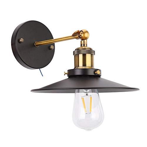 Blaker licht ijzeren wandlamp, 85-265V E27/E26 retro industriële stijl kroonluchter wandlamp voor nachtkastje lamp restaurant ijzeren wandlamp zonder lichtbron