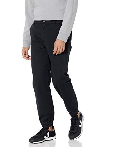Amazon Essentials Pantaloni da Jogging Dritti Vestito, Nero, L