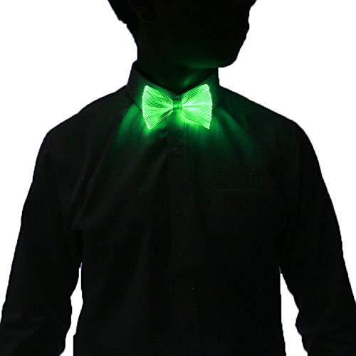 Light Up Bow Tie 7 Colors Changing LED Bowtie - 1clienic USB Rechargeable Glow Luminous Tie Christmas Halloween Valentine Rave EDC EDM Music Festival