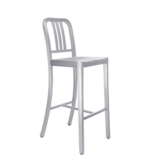 XINGPING All-Aluminium Marine Barhocker Rücken Barhocker Cafe Tisch und Stuhl Kombination Hochhocker Cafe Tisch und Stühle (Farbe : 61cm Sitting high)