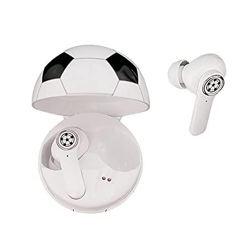 Fomino Drahtlose BT Kopfhörer Kabellose In-Ear-Kopfhörer mit Mikrofon Stereo Sport wasserdichte Ohrhörer für Laptop Handys BT HiFi In Ear Kopfhörer Stereo Anruf Kopfhörer (Weiß - B, One Size)