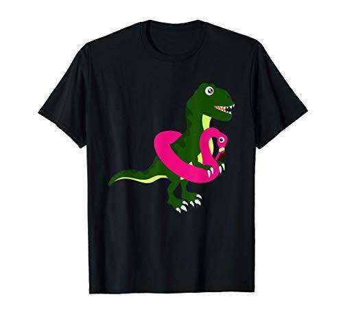 Dinosaurier Flamingo Schwimmreifen T-Rex T-Shirt T-Shirt