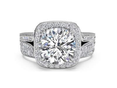 Für immer Diamant 18 Karat massives Weißgold (alle Größen, Farben (gelb, weiß) verfügbar) 1,15 ct. Rundschnitt Echte Solitaire-Diamantringe Hallmarked Bribal...