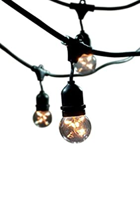 Bulbrite STRING15/E26-S14KT Outdoor, Garden, Patio, Wedding, Party, Holiday, Lawn, and Landscape String Light w/Incandescent Bulbs, 48-Feet, 15 Lights