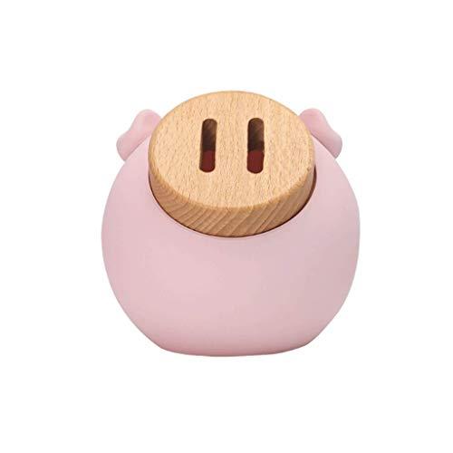 Hucha, Banco de Monedas, Contador de Monedas para niños, para decoración o como Regalo en Navidad, Rosa/Beige-Pink||L