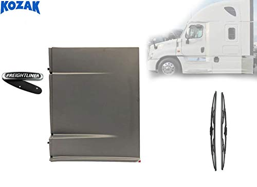 Kozak Rear Step Fairing Panel Left (Driver) Side Only for Freightliner Cascadia 2008-2016 Semi Trucks PLUS Freightliner logo and 2x22' Windshield Wipers